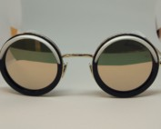 Cutler And Gross Modelo 1277-01 Gold Milky White de frente